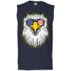 Patriotic - Eagle and Shades Gildan Men's Ultra Cotton Sleeveless T-Shirt