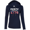 4th of July_Party like its 1776 Anvil Ladies' Long Sleeve T-Shirt Hoodie