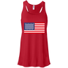 4th of July_USA Beer Flag Bella + Canvas Flowy Racerback Tank