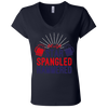 4th of July_Let's Get Star Spangled Hammered Bella + Canvas Ladies' Jersey V-Neck T-Shirt