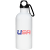 Patriotic - USA flag 20 oz. Stainless Steel Water Bottle