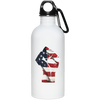 Patriotic - Flag Fist 20 oz. Stainless Steel Water Bottle