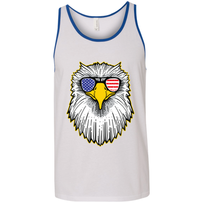 Patriotic - Eagle and Shades Bella + Canvas Unisex Tank