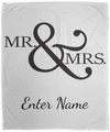 Wedding - Mr. & Mrs. Big And Symbol - Custom Cozy Plush Fleece Blanket - 50x60