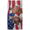 Politics - Trump punching Pete Buttigeig Beach Towel - 37x74