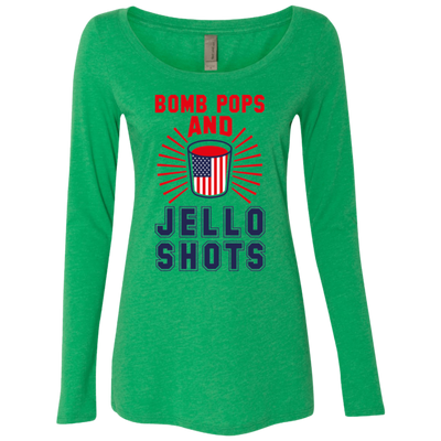 4th of July_Bomb Pops and Jello Shots NL6731 Next Level Ladies' Triblend LS Scoop
