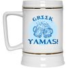Greek Pride - Cheers! Beer Stein 22oz.