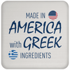 Greek Pride - American Made with Greek Ingredients Coaster