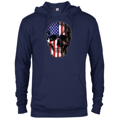 Patriotic - Skull Flag Delta French Terry Hoodie