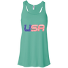 Patriotic - USA flag Bella + Canvas Flowy Racerback Tank