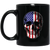 Patriotic - Skull Flag 11 oz. Black Mug
