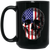 Patriotic - Skull Flag 15 oz. Black Mug