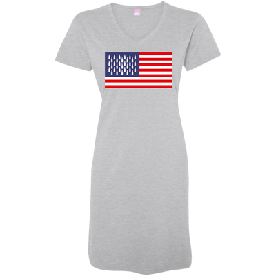 4th of July_USA Beer Flag 3522 LAT Ladies' V-Neck Fine Jersey Cover-Up