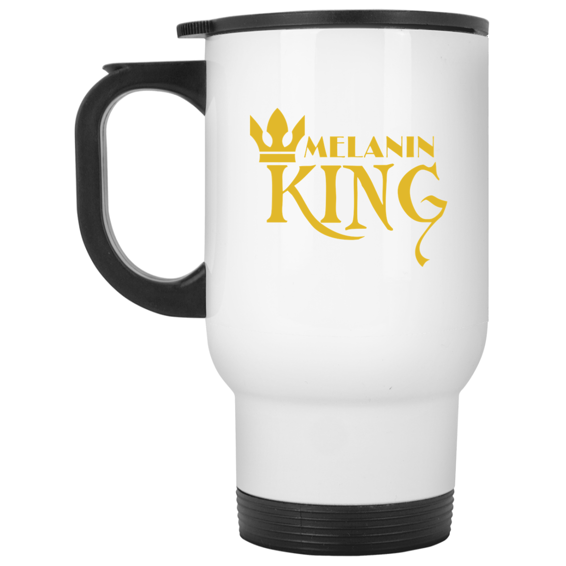 African Pride - Melanin King White Travel Mug