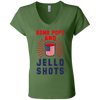 4th of July_Bomb Pops and Jello Shots Bella + Canvas Ladies' Jersey V-Neck T-Shirt