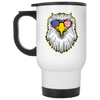 Patriotic - Eagle and Shades White Travel Mug