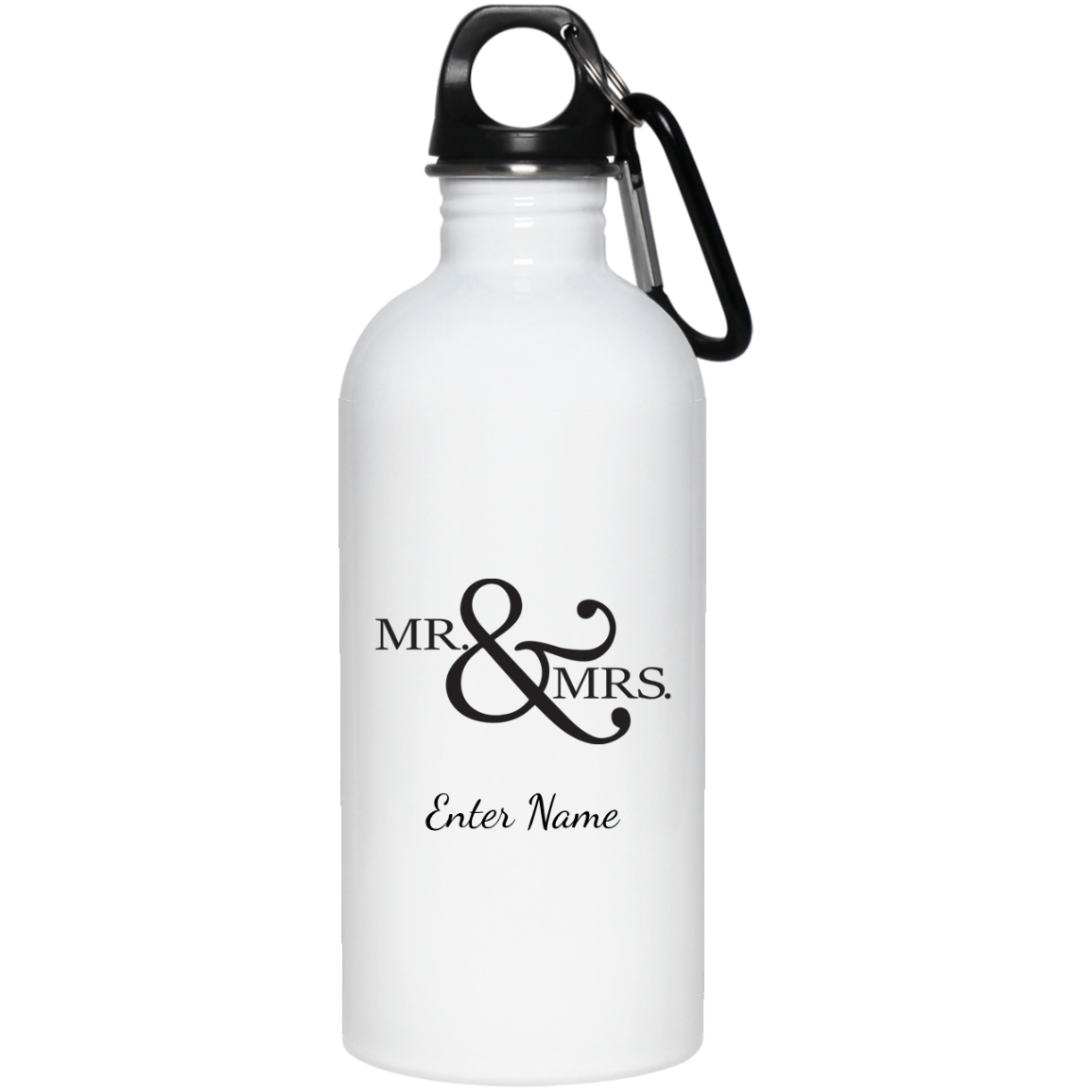 Wedding - Mr. & Mrs. Big And Symbol - Custom 20 oz. Stainless Steel Water Bottle
