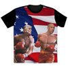 Politics - Trump punching Cory Booker All Over Print T-Shirt