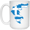 Greek Pride - Greece Greek Flag 15 oz. White Mug