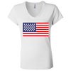 4th of July_USA Beer Flag Bella + Canvas Ladies' Jersey V-Neck T-Shirt