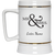 Wedding - Mr. & Mrs. Big And Symbol - Custom Beer Stein 22oz.