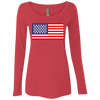 4th of July_USA Beer Flag NL6731 Next Level Ladies' Triblend LS Scoop