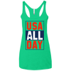 4th of July_USA all day Next Level Ladies' Triblend Racerback Tank