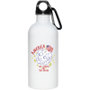 Patriotic - landing on the moon 20 oz. Stainless Steel Water Bottle