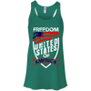 Patriotic - Freedom Bella + Canvas Flowy Racerback Tank