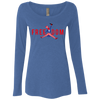 4th of July_FREEDOM NL6731 Next Level Ladies' Triblend LS Scoop