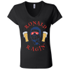 4th of July_Ronald Ragin' Bella + Canvas Ladies' Jersey V-Neck T-Shirt