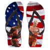 Politics - Trump and Joe Biden Rocky Punch Flip Flops - Large