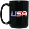 Patriotic - USA flag 15 oz. Black Mug