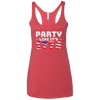 4th of July_Party like its 1776 Next Level Ladies' Triblend Racerback Tank