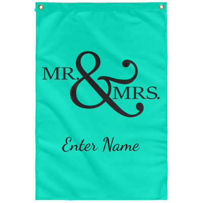 Wedding - Mr. & Mrs. Big And Symbol - Custom Sublimated Wall Flag