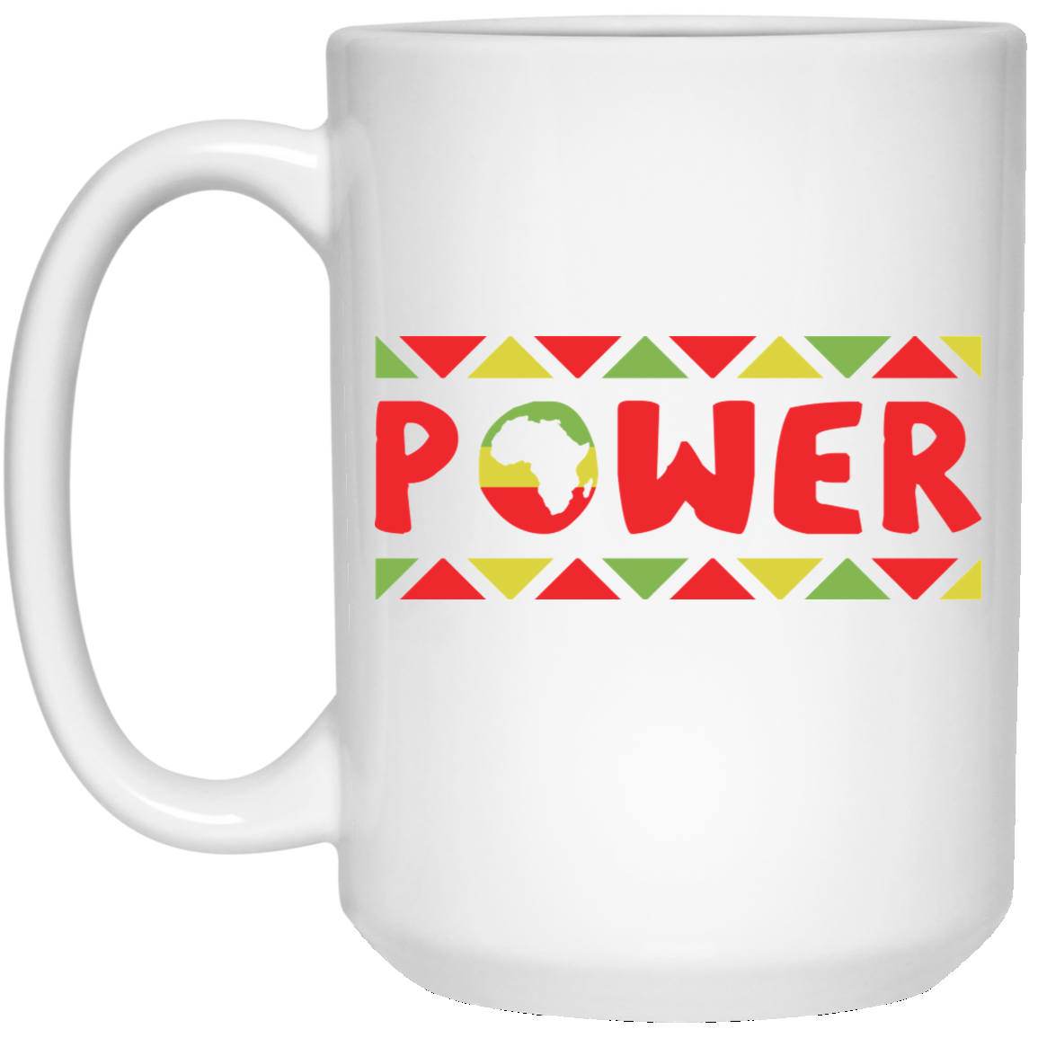 African Pride - African Power 15 oz. White Mug