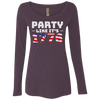 4th of July_Party like its 1776 NL6731 Next Level Ladies' Triblend LS Scoop