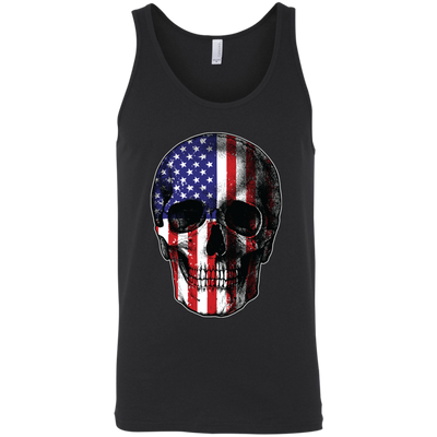 Patriotic - Skull Flag Bella + Canvas Unisex Tank