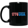 Patriotic - 1776 USA 11 oz. Black Mug