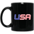 Patriotic - USA flag 11 oz. Black Mug