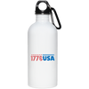 Patriotic - 1776 USA 20 oz. Stainless Steel Water Bottle