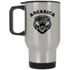 Patriotic - Abearica Silver Stainless Travel Mug