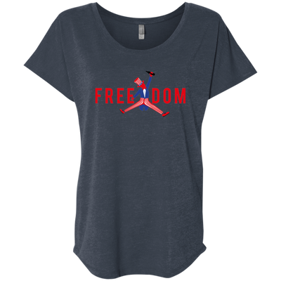 4th of July_FREEDOM Next Level Ladies' Triblend Dolman Sleeve