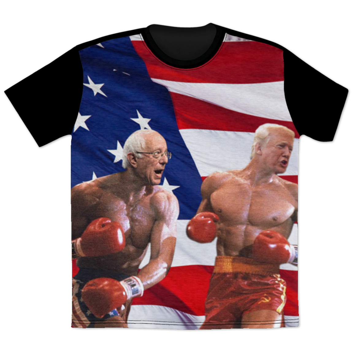 Politics - Bernie Sanders punching Trump All Over Print T-Shirt