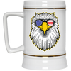 Patriotic - Eagle and Shades Beer Stein 22oz.