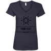 Personalized Custom Layout - Star Anvil Ladies' V-Neck T-Shirt