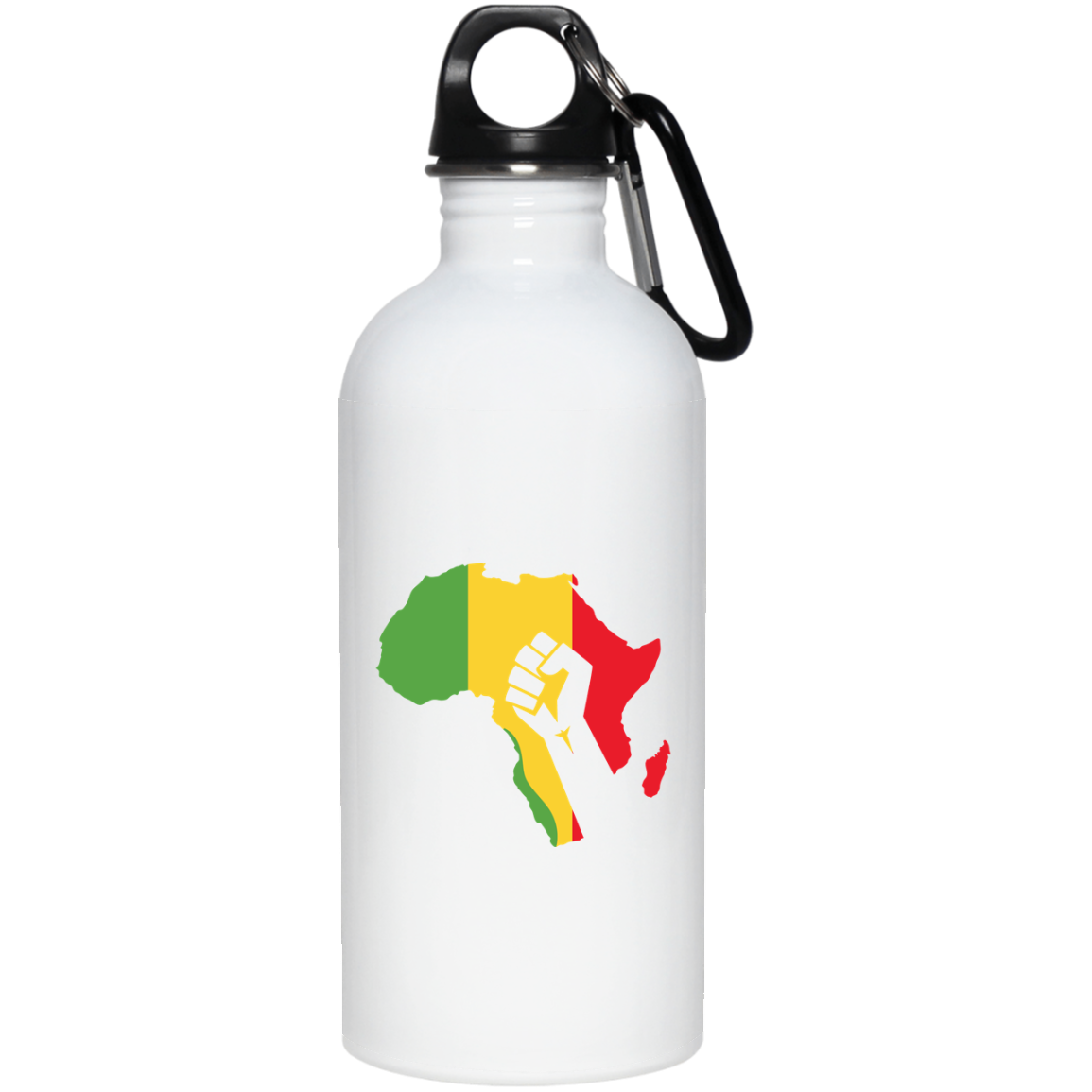 African Pride - Power Fist 20 oz. Stainless Steel Water Bottle