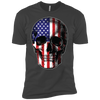 Patriotic - Skull Flag Next Level Premium Short Sleeve T-Shirt