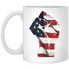 Patriotic - Flag Fist 11 oz. White Mug