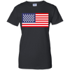 4th of July_USA Beer Flag Gildan Ladies' 100% Cotton T-Shirt